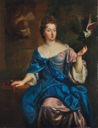 Portrait de femme avec une perruche