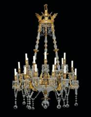 A FRENCH ORMOLU AND CUT-GLASS