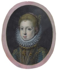 Portrait of a girl from a noble family, bust length