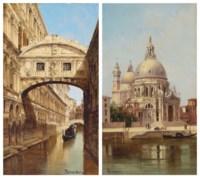 Il Ponte dei Sospiri, Venezia; and Santa Maria della Salute, Venezia
