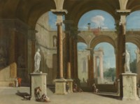 Capriccio of a classical arcade with Saint Paul's Cathedral