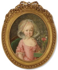 Portrait of a young girl, half-length