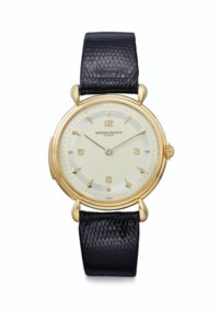 Vacheron Constantin. An Extremely Fine and Rare 18k Gold Minute Repeating Wristwatch with Two-Tone Dial
