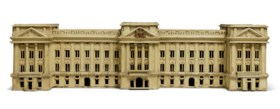 AN ENGLISH CREAM-PAINTED MODEL OF THE GEORGE V FACADE OF BUC