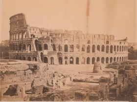 TWO LARGE FRAMED MONOCHROME PHOTOGRAPHS OF THE COLOSSEUM, RO