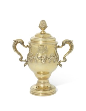 A GEORGE III SILVER-GILT CUP AND COVER