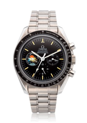 """OMEGA, SPEEDMASTER, APOLLO XIII """"MISSION PATCH"""" 25TH ANNIVER"""