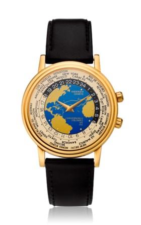 ANDERSEN GENEVE, WORLD TIME , 18K GOLD, CHRISTOPHER COLUMBUS