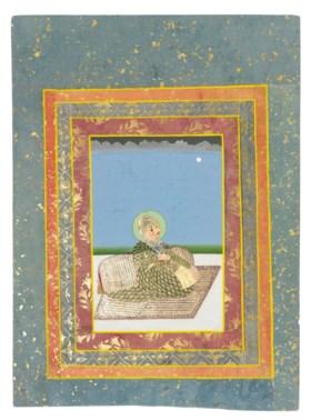 A SEATED PORTRAIT OF MAHARAJA SAWAI MADHO SINGH OF JAIPUR (R