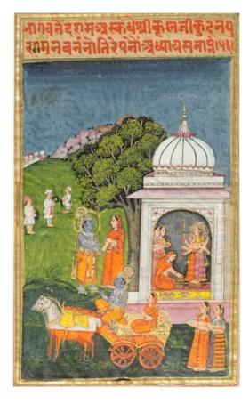 AN ILLUSTRATION FROM A BHAGAVATA PURANA SERIES: THE ABDUCTIO
