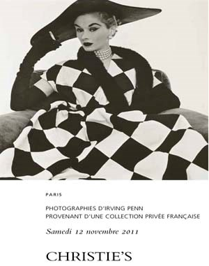 Photographies d'Irving Penn pr auction at Christies