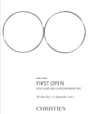 First Open  Post-War & Contemp auction at Christies