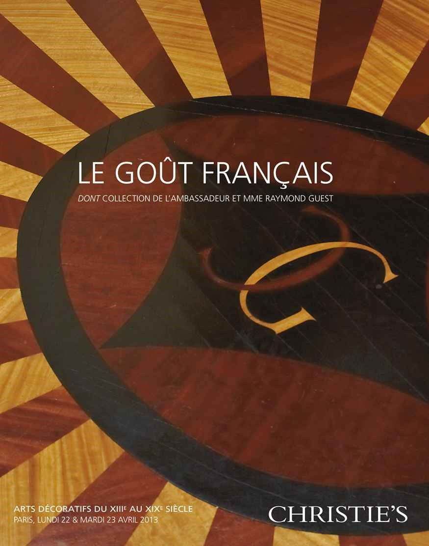 Le goût Français - Arts décora auction at Christies